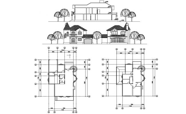 Download The Simple Plan Of Bungalow With Elevation AutoCAD File