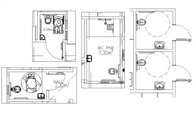 Download Toilet Plan DWG File