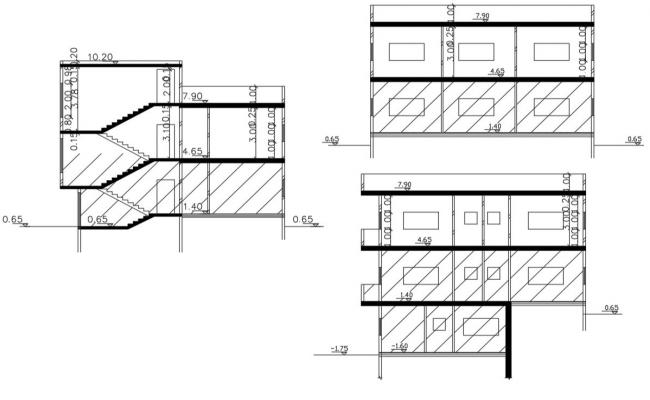Download House Section Drawing DWG File