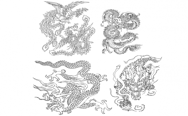 Dragon plan detail dwg.
