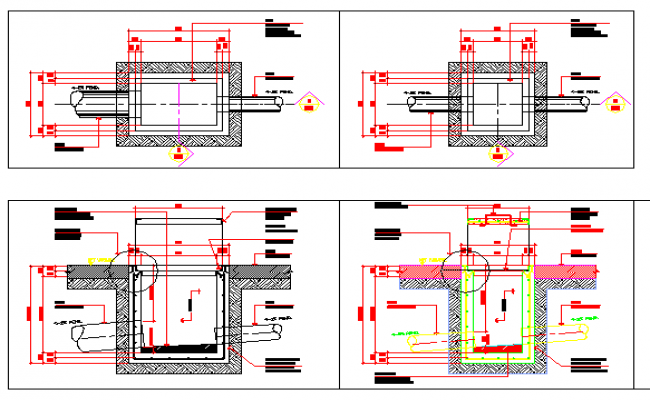 Drain With and Without Grates Construction Details dwg file