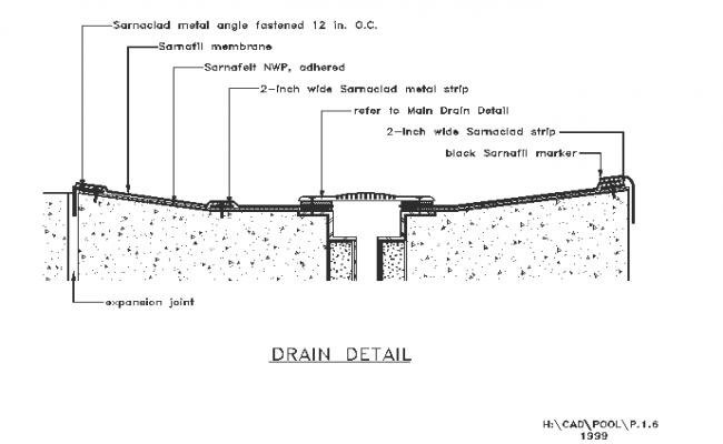 Drain detail drawing