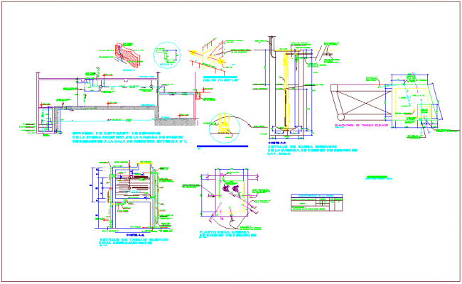 Drain water line detail with its size view for commercial building dwg file