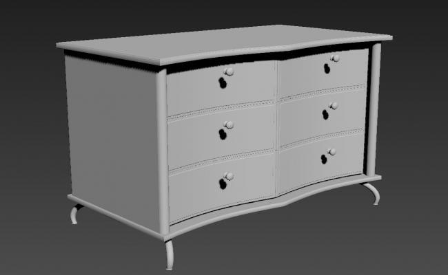 Drawer Cabinet Design 3ds Max File Free Download