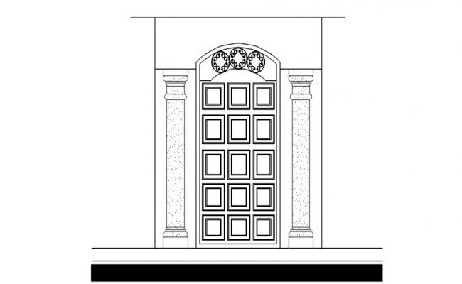Drawing of Gate design in dwg file