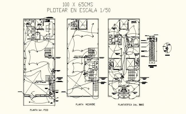 Electrical Layout Plan In AutoCAD File