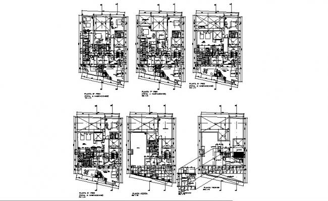 High Rise Building Plan In DWG File