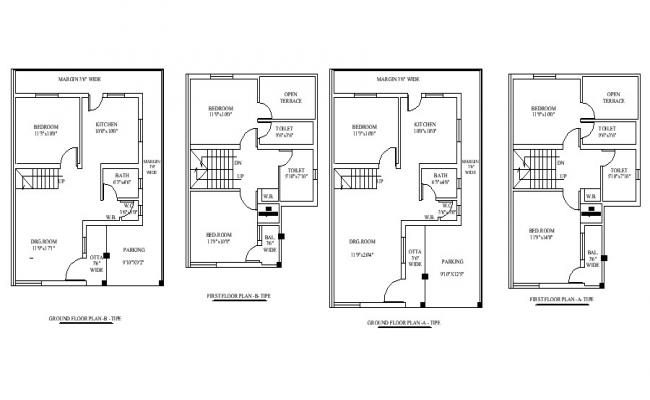 Drawing of House design in autocad