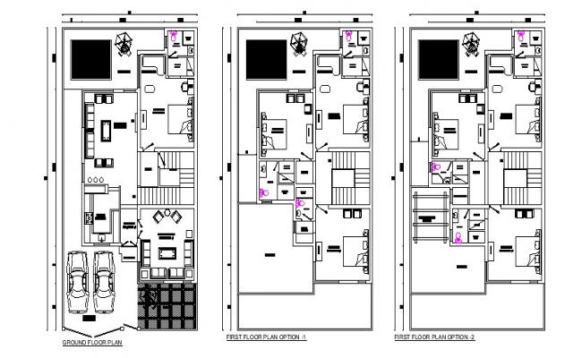 House Floor Plan Design In DWG File