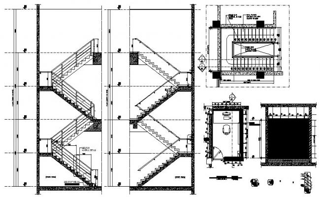 Staircase Plan In DWG File