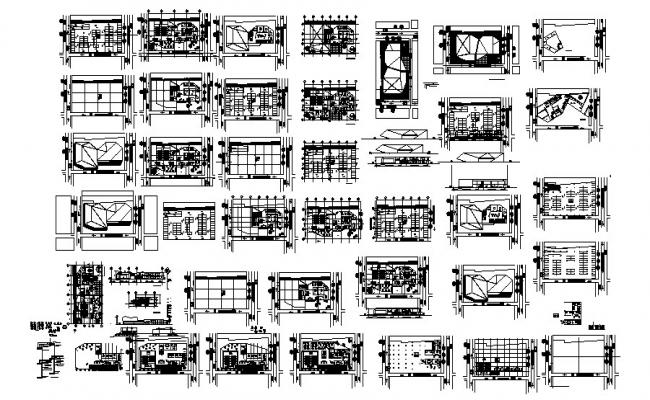 Drawing of Office plan in autocad
