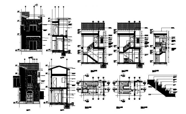 Download Free Staircase Detail In DWG File