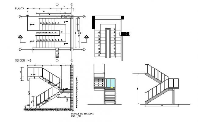 Drawing of Stairs with different section in Autocad
