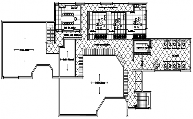 Bank Building Drawing In DWG File