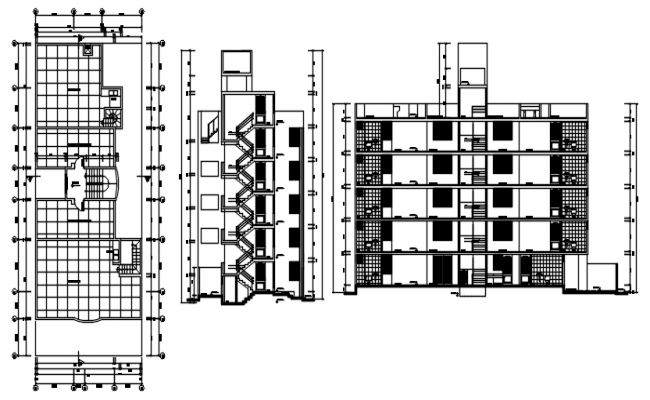 Drawing of a residential apartment with detail dimension in autocad