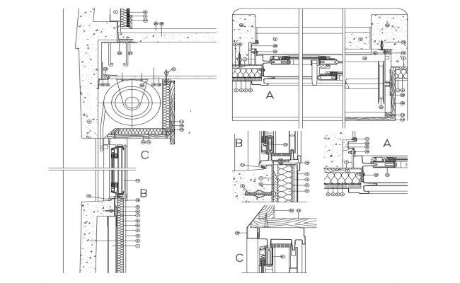 Architecture elevation design in AutoCAD file