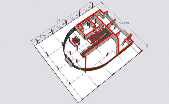 Drawing of building in SketchUp file