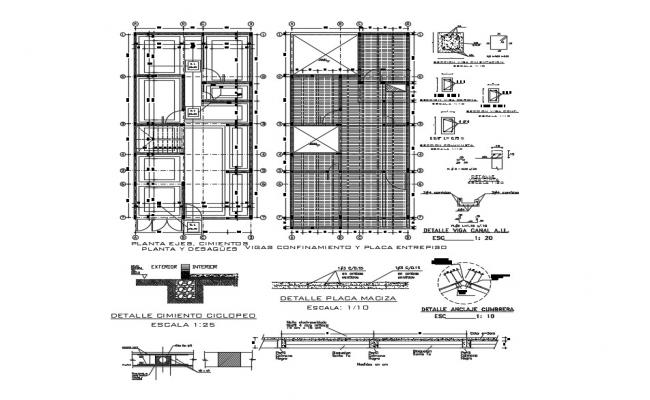 Building drawing plan with detail dimension in DWG file