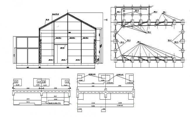 House Plan Dimension In DWG File