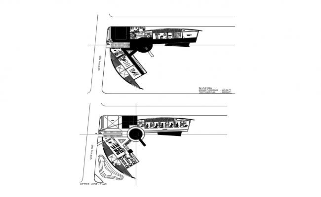 Drawing of clubhouse plan with detail dimension in dwg file
