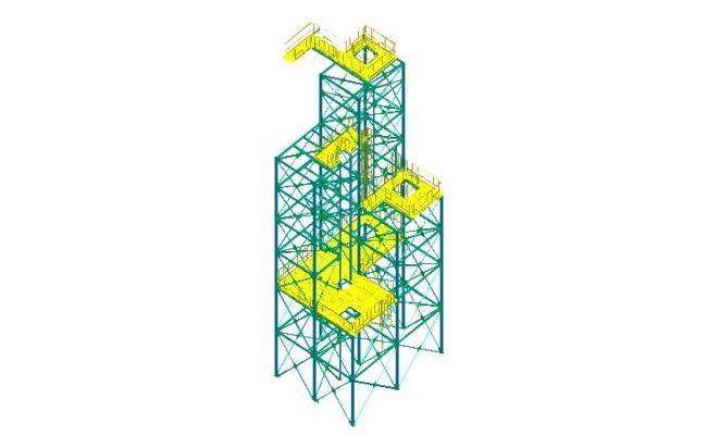 Drawing of construction design in dwg file