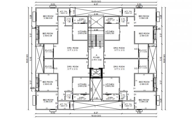 Residence Plan In DWG File