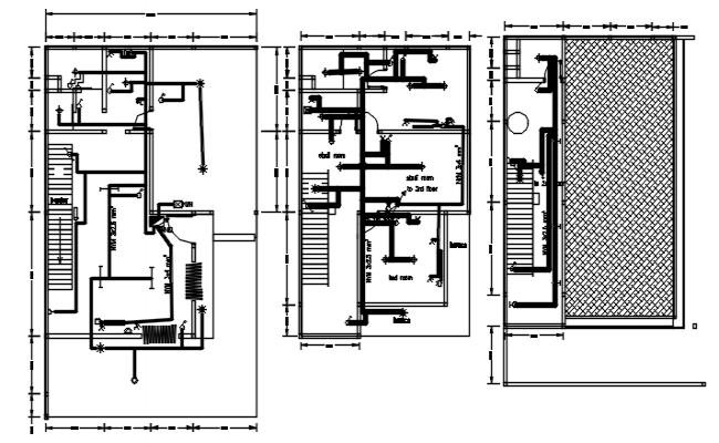 Drawing of house plan in dwg file