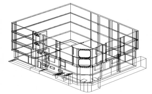Drawing of institute building in dwg file