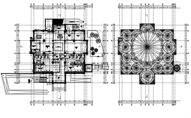 Drawing of mosque detail in dwg file