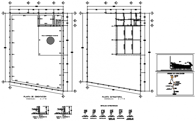 Drawing of office building plan in AutoCAD