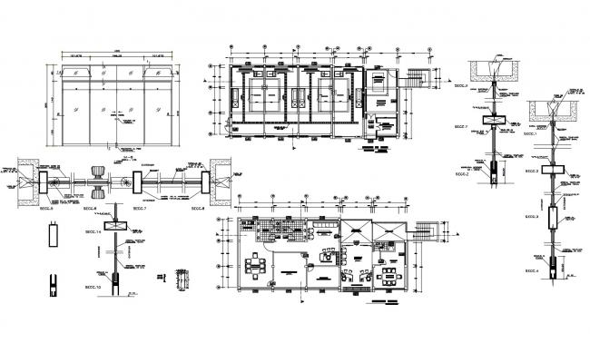 Office design drawing in DWG file
