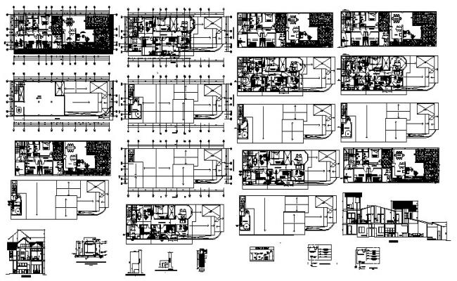 Residential Plan In AutoCAD File