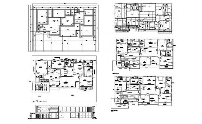 Drawing of residential house 100'0'' x 90'0'' with detail dimension in dwg file