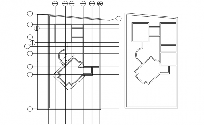 Small House Plan Design In AutoCAD File