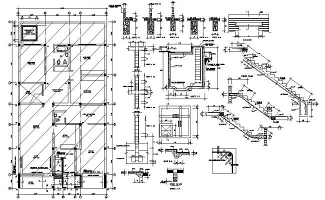 Foundation Plan Drawing In DWG File