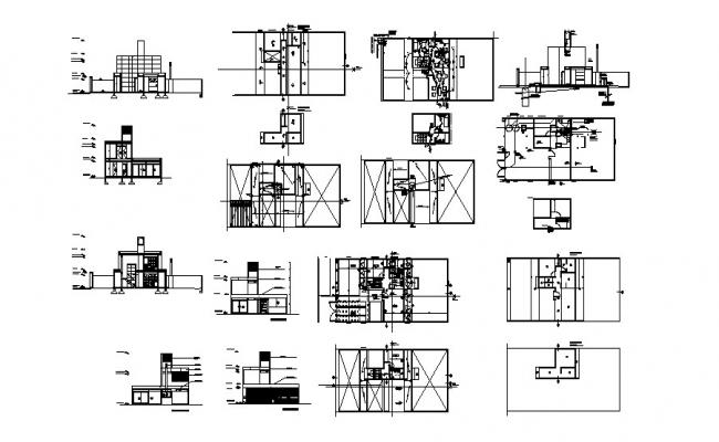 Residence Home Drawing In DWG File