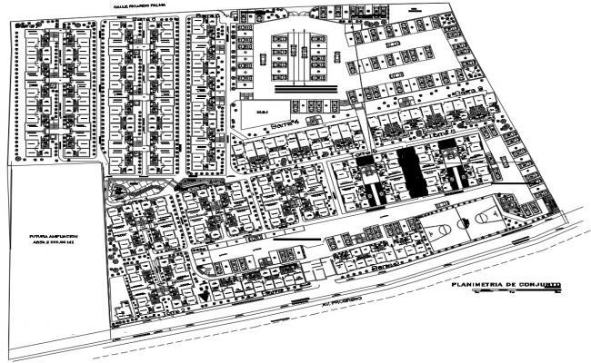 Site plan design in AutoCAD file