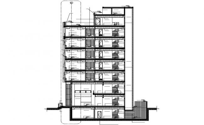 Apartment drawing in AutoCAD file