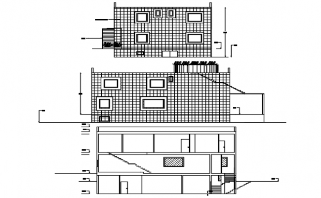 2 Storey Bungalow Plan In AutoCAD File