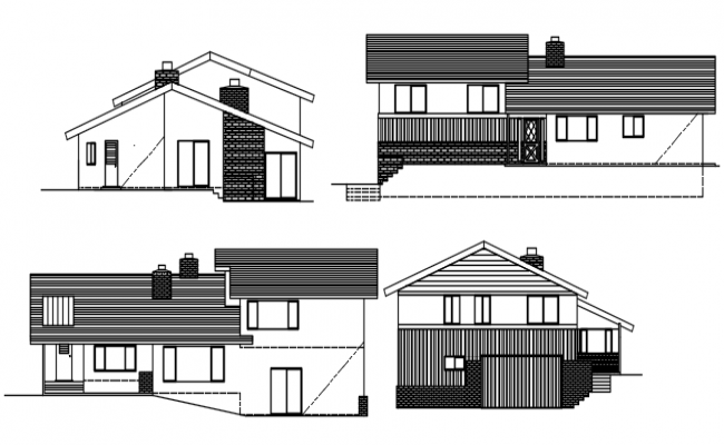 Drawing of the house design in dwg file