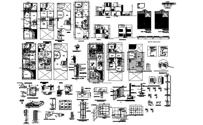 Residence House Plan In DWG File