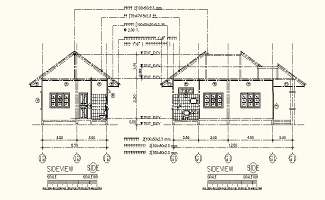 Big House Drawing In AutoCAD File