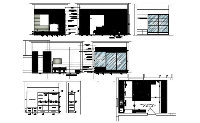 Interior House Drawing In AutoCAD File
