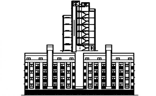 Multi Storey Building Plan In AutoCAD File