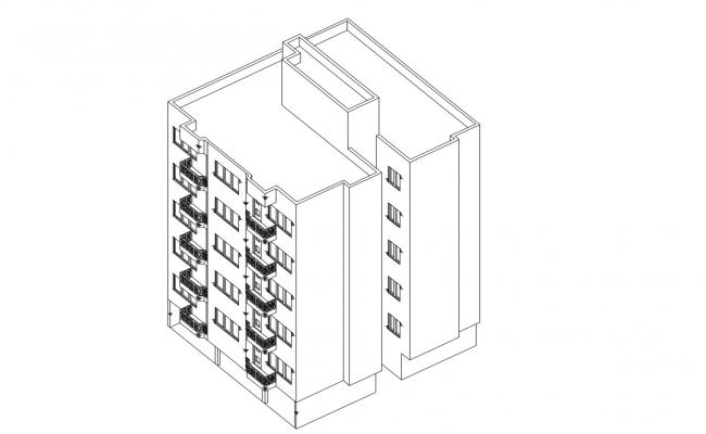 Drawing of the residential building in AutoCAD