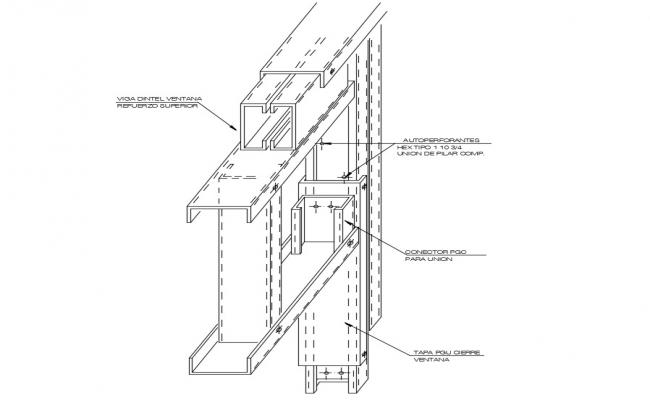 Drawings details of 3d CAD structural blocks dwg file