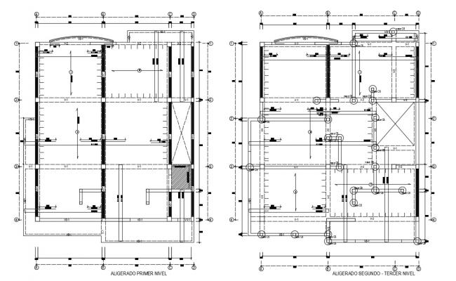Drawings details of column installation layout dwg file