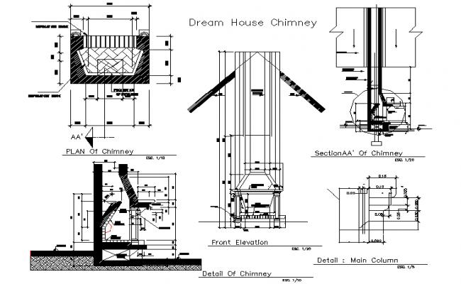 Dream House Chimney Detail Dwg File