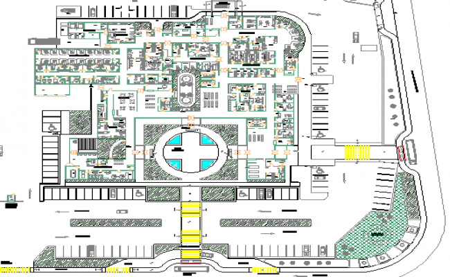 Drive medical health center architecture project dwg file