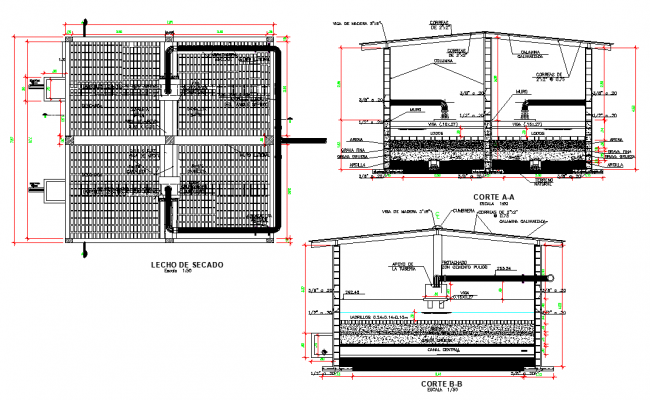 Drying plan and section layout file
